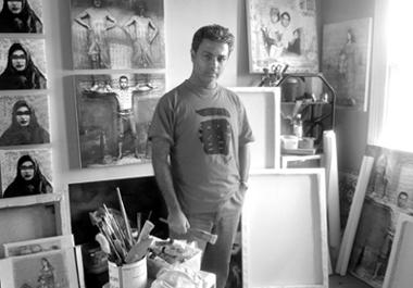 «خط فیروزه ای» نمایشگاه نقاشی و فیلم کورش صالحی